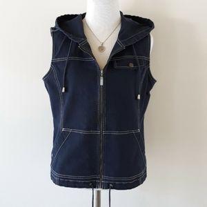 {Christopher & Banks} Hooded Vest